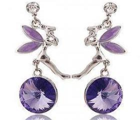 Fashion Nice Cute Shine Rhinestone Angel Girl Earring HOT!!