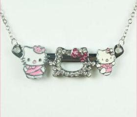 Swarovski Crystal Hellokitty Slide Charms Necklace 