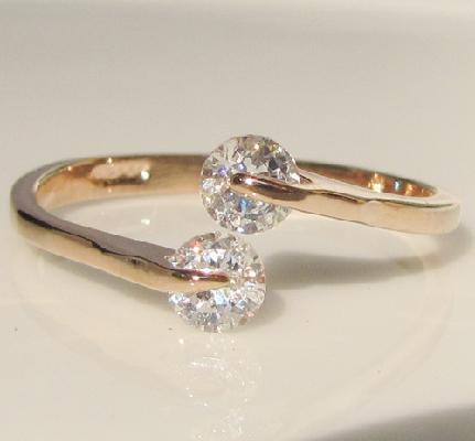 0 46 ct swarovski gold gp promise